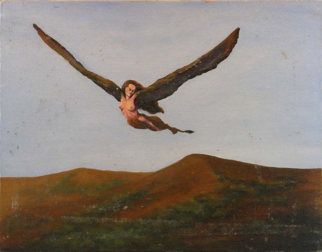 A sphinx, circa 1976. An early work in oil paint.