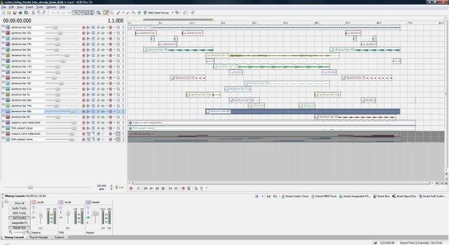 Cortex Failing, Frontal Lobes Already Down, draft 1, ACID Pro screen shot.