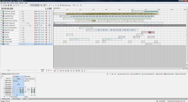 Dream House, draft 1, ACID Pro screen shot.